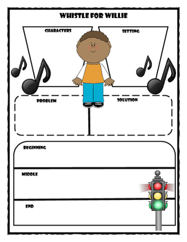 Whistle for Willie Story Map - Graphic Organizer