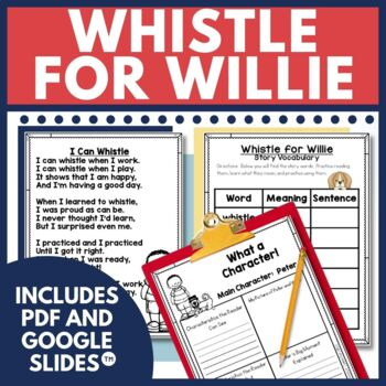 Whistle For Willie Comprehension Activities By