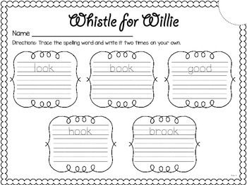 Whistle for Willie {spelling, writing, and phonics practice}