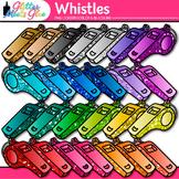 Rainbow Whistle Clip Art   Glitter Sports Equipment for Gym Teachers & Coaches