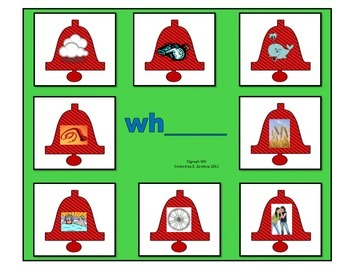 """Whistling Whale """"wh"""" Words: File Folder Activity"""