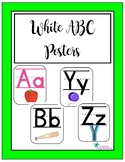 White ABC Wall Posters