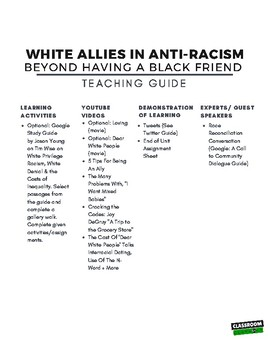White Allies in Anti-Racism (The Hate U Give)