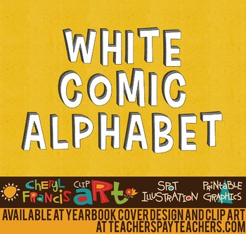 Comic Alphabet White