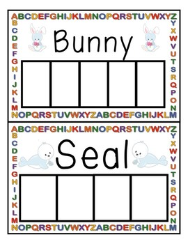 Writing practice animal Words (white board style)