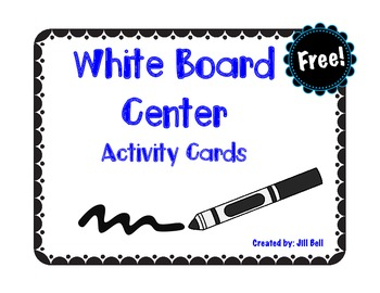 White Board Center Activity Cards Freebie