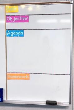 White Board Labels Editable