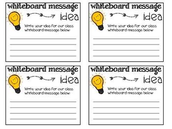 White Board Message Idea