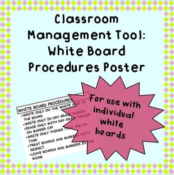 White Board Procedures Poster