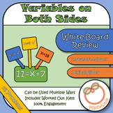 White Board Review: Equations with Variables on Both Sides