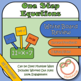 White Board Review: Solving One-Step Equations (Google Slides)