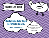 White Board Subject Labels