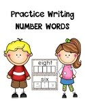 Writing practice number Words (white board style)