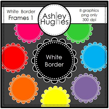 FREE White Border Frames 1 {Graphics for Commercial Use}