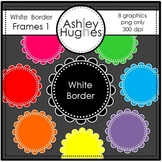 FREE White Border Frames 1 {Graphics for Commercial Use} [Ashley Hughes Design]