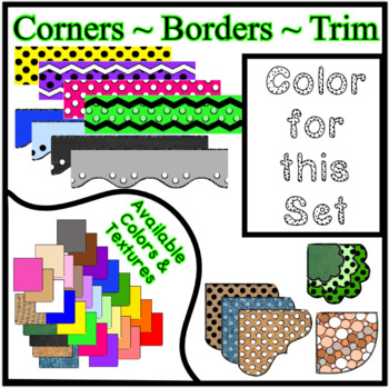 White Borders Trim Corners *Create Your Own Dream Classroom/Daycare*