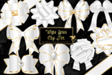 White Bows Clipart