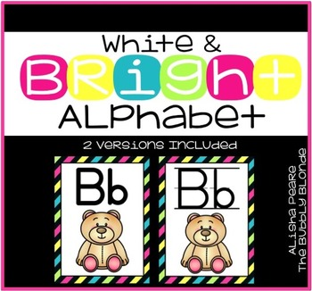 White & Bright Alphabet Posters