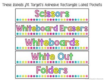 White & Bright Classroom Labels