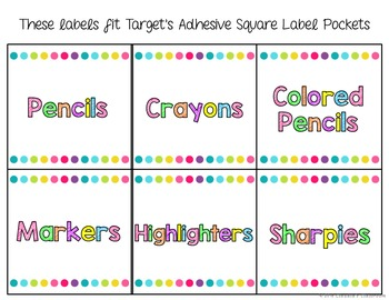 White & Bright Classroom Labels