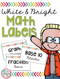 White & Bright Math Manipulative Labels