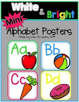 White & Bright Mini Alphabet Posters