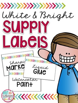 White & Bright EDITABLE Supply Labels