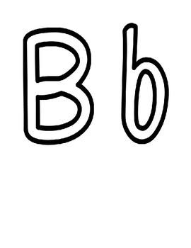 White Bulletin Board Letters