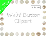 Buttons White Real Photo Clipart