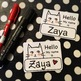 White Cat - FREE EDITABLE NAMETAGS