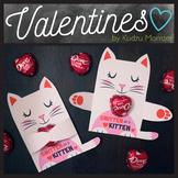 White Cat Valentine Candy Hugger