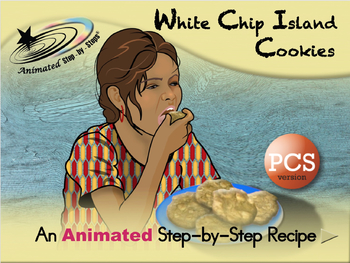White Chip Island Cookies - Animated Step-by-Step Recipe - PCS