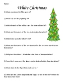 White Christmas Movie Musical Worksheet