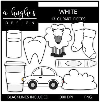 White Color Clipart {A Hughes Design}