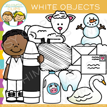 White Color Objects Clip Art
