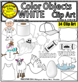 White Color Objects Clip Art English & Spanish Personal and Commercial Use