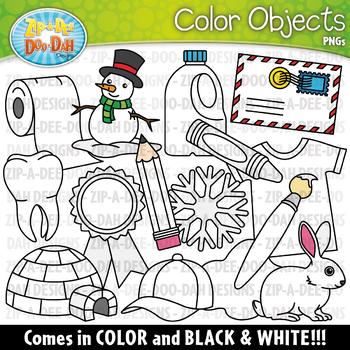 White Color Objects Clipart {Zip-A-Dee-Doo-Dah Designs}