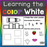 White Color Recognition Color Word Boom Cards (Learning Co