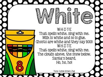 White Color Song Crayon Book