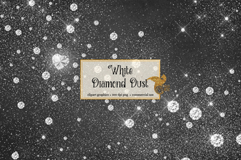 White Diamond Dust PNG overlays clipart