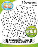 Dominoes Clipart {Zip-A-Dee-Doo-Dah Designs}