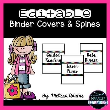 White Editable Binder Covers