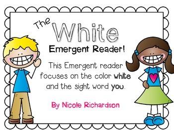 White Emergent Reader