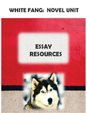 White Fang:  Essay Prompt, Guidelines, and Editing Sheet