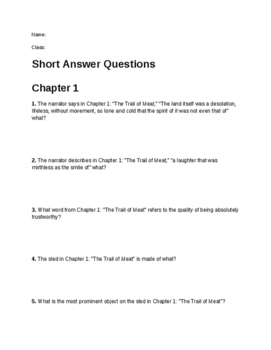White Fang Short Answer Questions