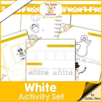 White - File Folder Activity Set