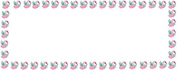 White Flamingo Boarder Label