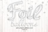 White Foil Balloon Script Alphabet