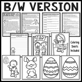 White House Easter Egg Roll Reading Comprehension Worksheet, Spring