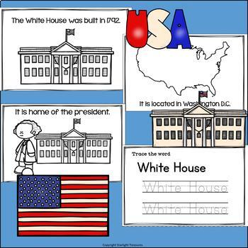 White House Mini Book for Early Readers: American Symbols